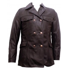 German Police Leather Coat